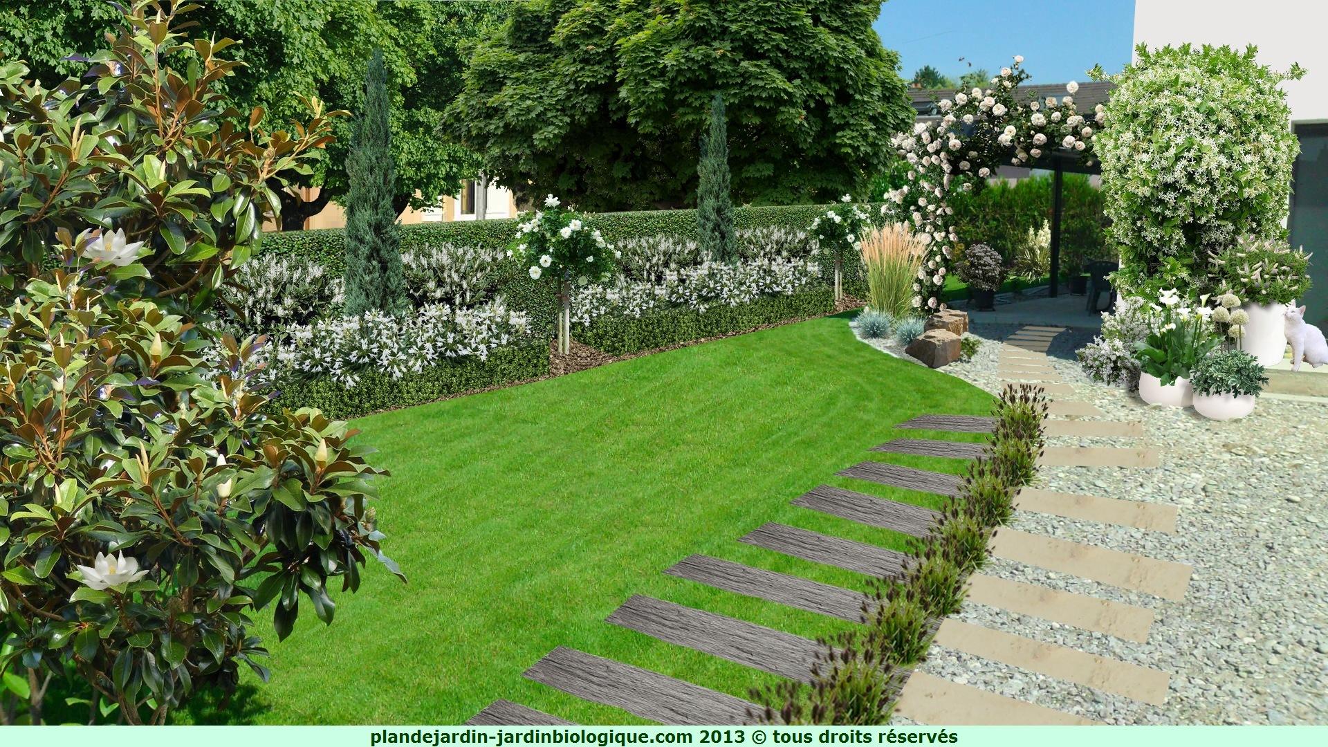 cr er un jardin blanc plan d 39 un jardin blanc. Black Bedroom Furniture Sets. Home Design Ideas