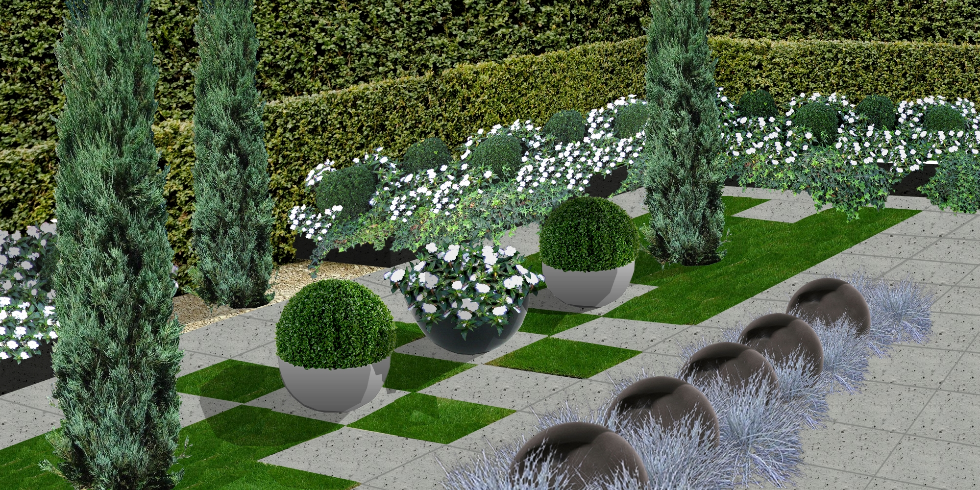 Cr er un jardin de topiaires un jardin de buis for Creer un jardin contemporain
