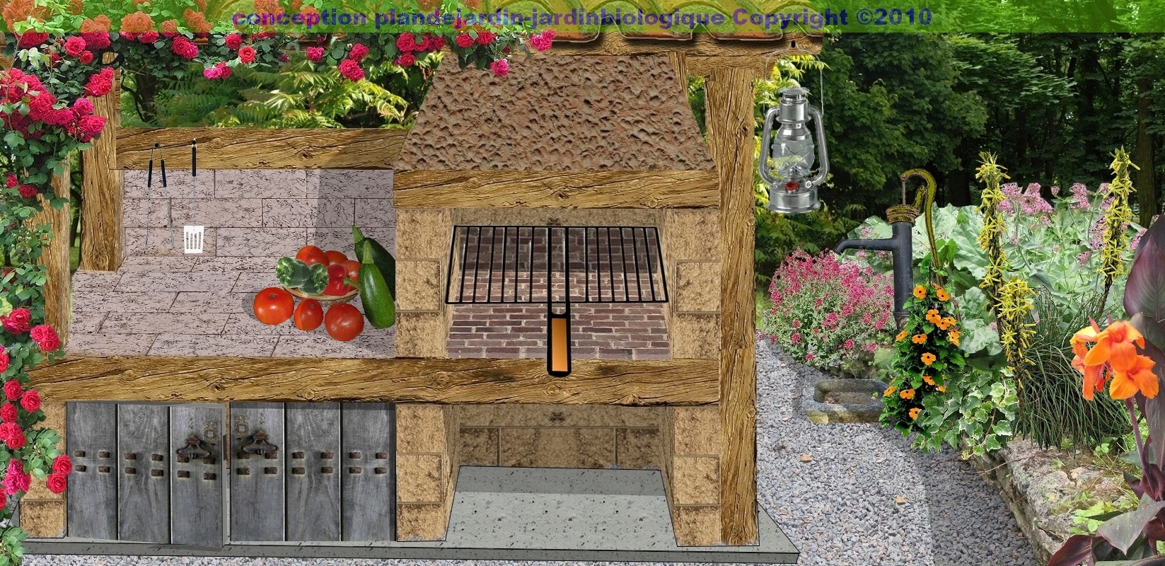 Construire un barbecue barbecue en pierre for Plan exterieur