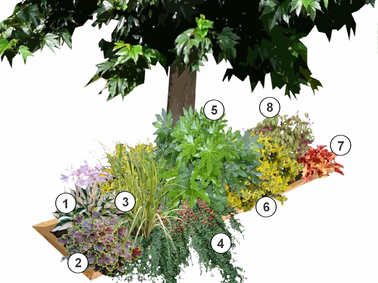 installer une jardini re sous un arbre. Black Bedroom Furniture Sets. Home Design Ideas