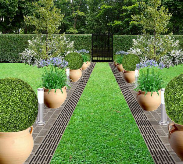 Faire une bordure d 39 all e en pot - Faire une allee de jardin ...