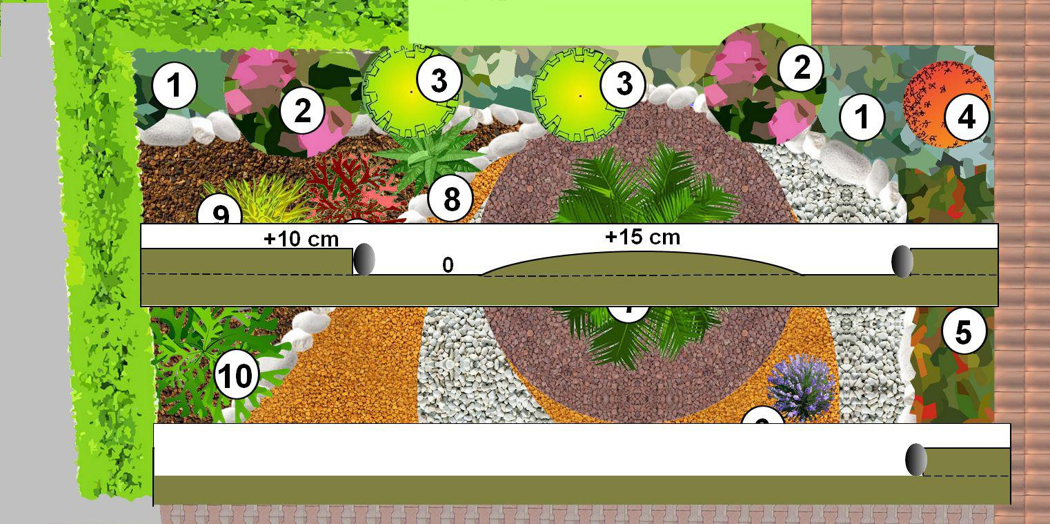 jardin minéral: créer un jardin de gravier
