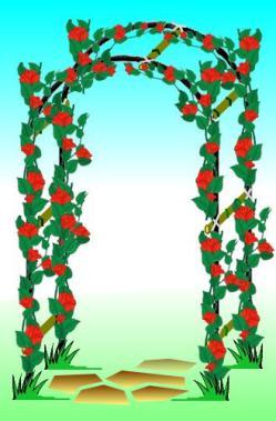 Cr er une arche fleurie au jardin - Comment faire une arche ...