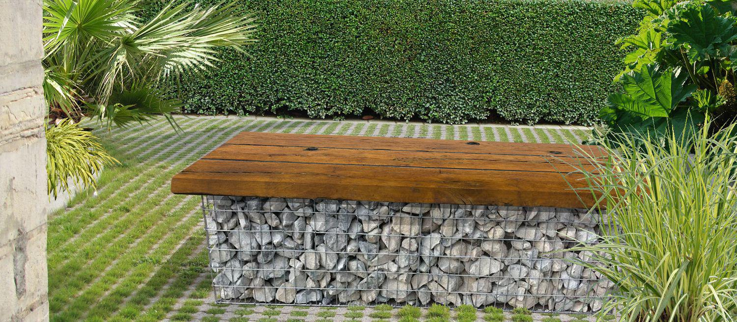 l utilisation des gabions au jardin. Black Bedroom Furniture Sets. Home Design Ideas
