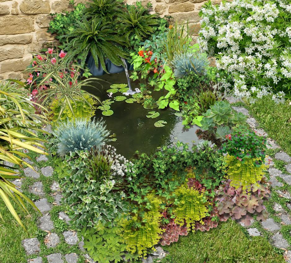 Comment construire un bassin au jardin avec des palettes - Construire avec des palettes ...