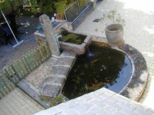 bassin de jardin en béton, plan de coffrage
