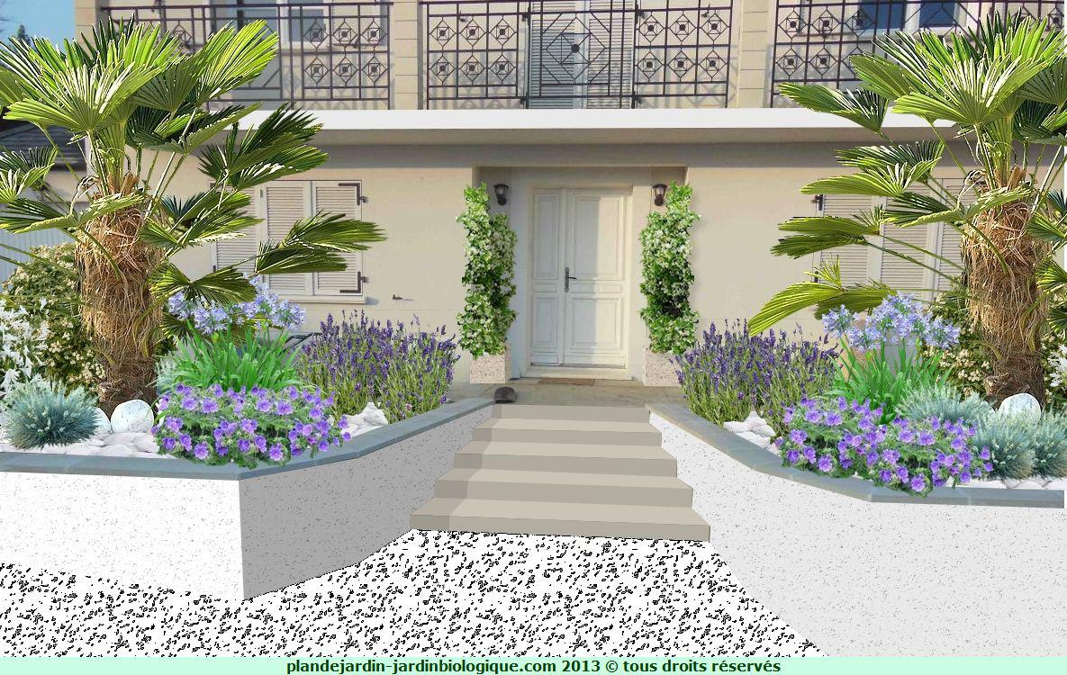 Amenagement jardin facade maison awesome cette image for Exemple amenagement maison