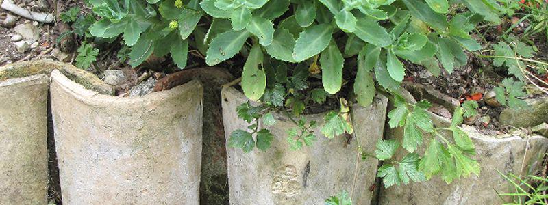 Bordures d 39 all es de jardin et massifs for Bordure terre cuite jardin