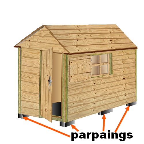 plan cabane bois de jardin+ abri jardin bois+cabanes à ...