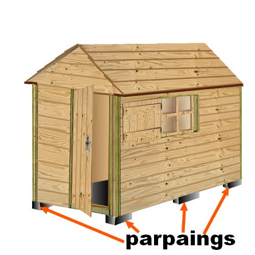 Plan pour maisonnette en bois plan approch du0027une for Abri de jardin permis de construire