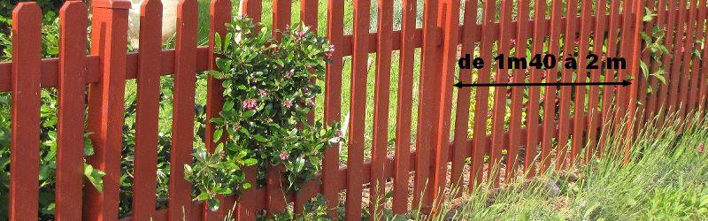 comment faire une clôture en bois au jardin