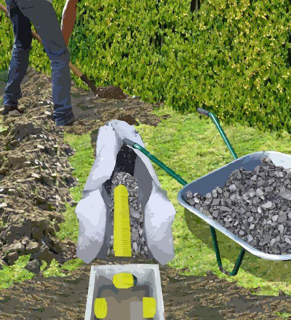 drainage de la pelouse. Black Bedroom Furniture Sets. Home Design Ideas