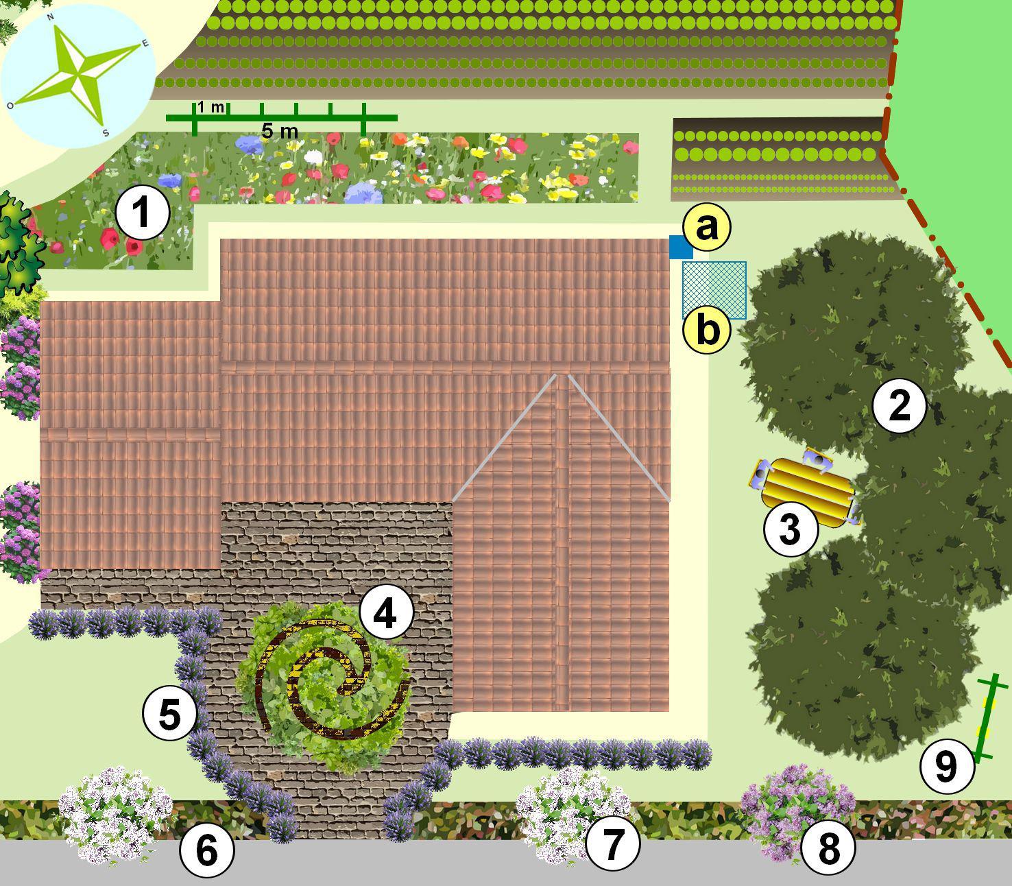 Cr er un jardin en permaculture plan for Dessiner plan jardin