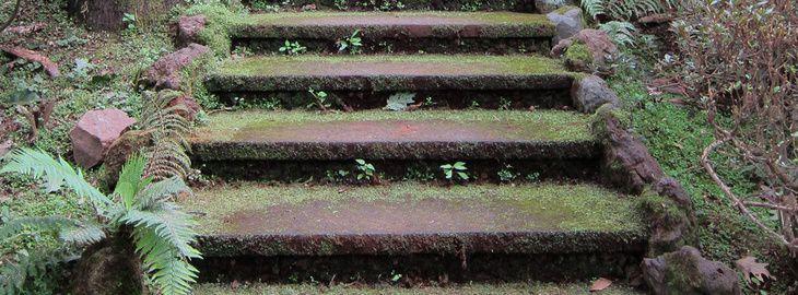 escalier de jardin en béton : plan de coffrage