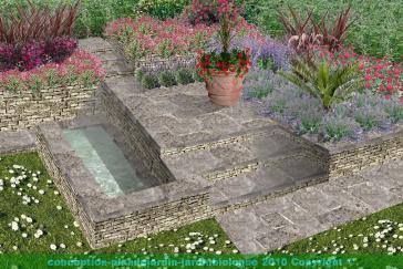 escalier de jardin en b ton plan de coffrage. Black Bedroom Furniture Sets. Home Design Ideas