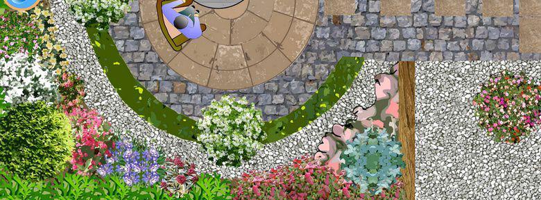 Exemple plan jardin mod le d 39 am nagement paysag page numero un - Jardin paysager exemple ...