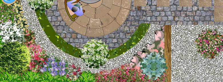 exemple plan jardin: modéle d\'aménagement paysagé: page numero un
