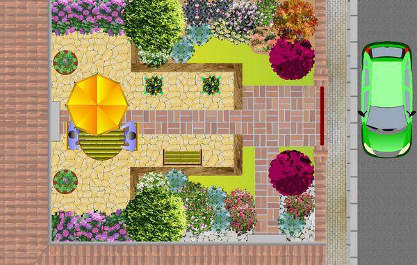 Exemple plan jardin mod le d 39 am nagement paysag page for Amenagement jardin 2000m2