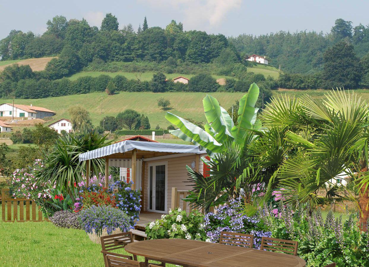 Faire un jardin autour d un mobil home plans - Mobil home dans son jardin ...