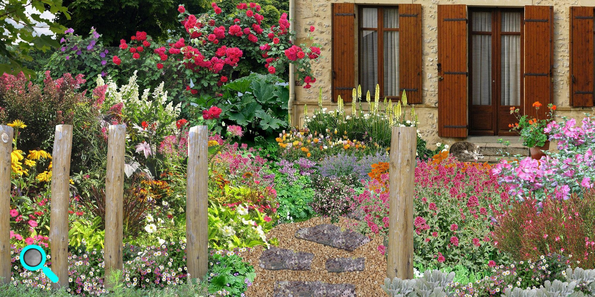 Mixed border plantation mixed borders entretien mixed border - Jardin romantique anglais ...
