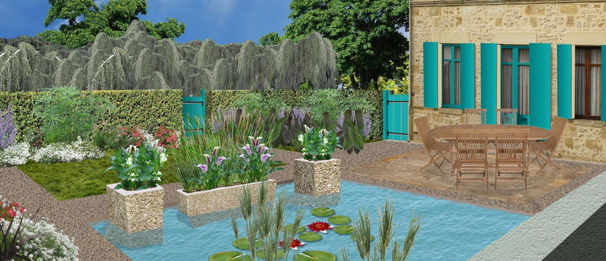 Cr er un jardin d 39 eau plan de jardin d 39 eau for Creation parterre devant maison