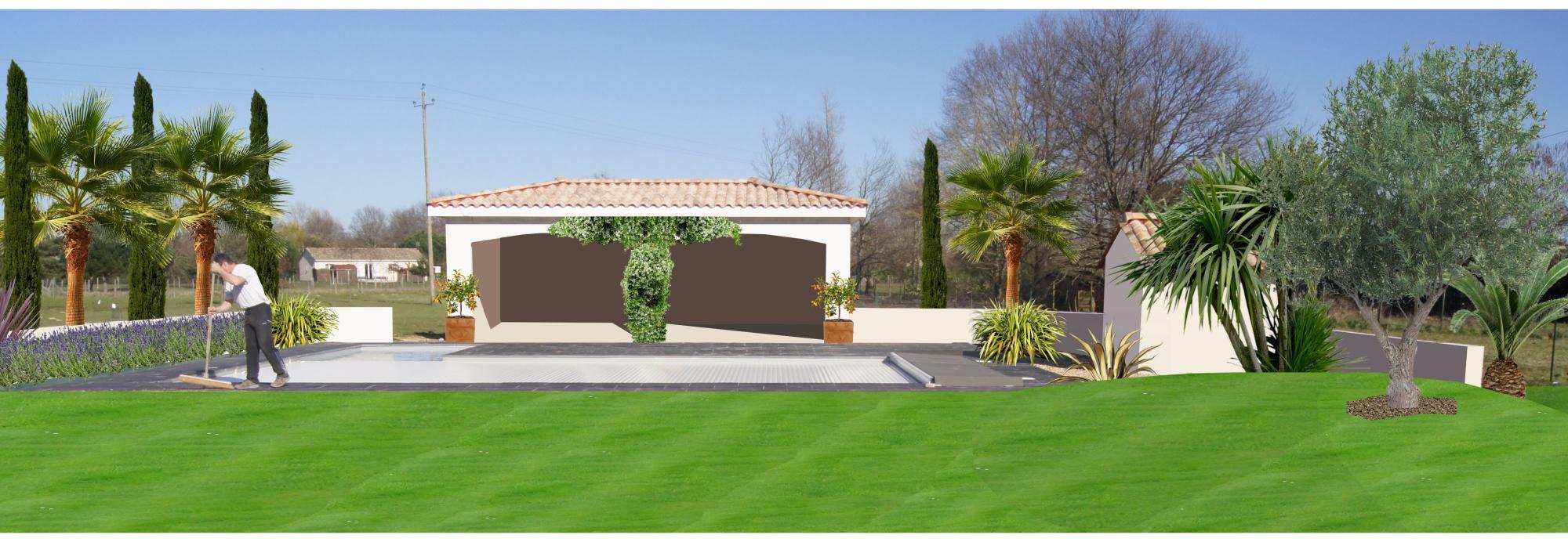 Faire un jardin autour d une piscine planter les abords d for Amenagement bord de piscine