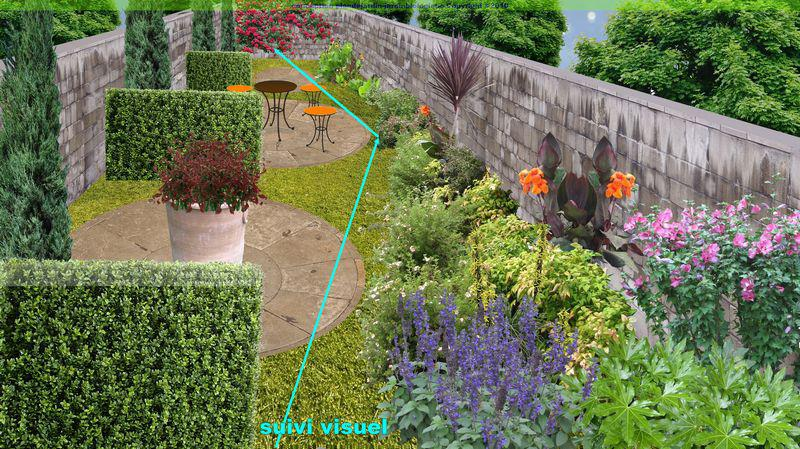 plan dun jardin en longueur