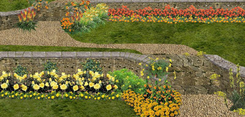Creation De Jardin En Paliers Ou Restanques Jardin En Terrasses