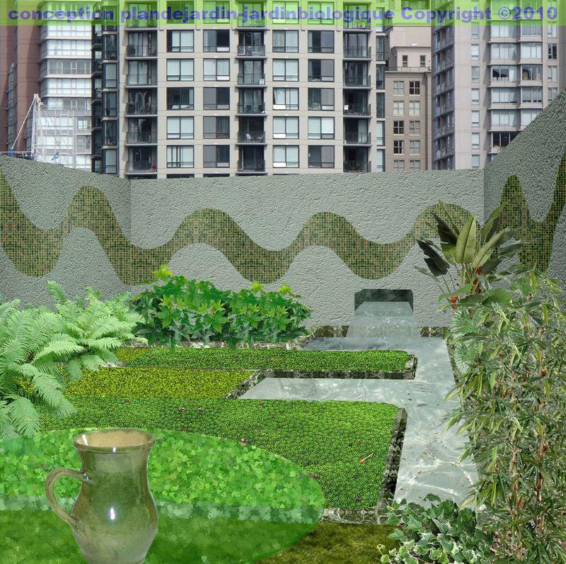 Cr er un jardin moderne le paysage contemporain for Plan jardin contemporain