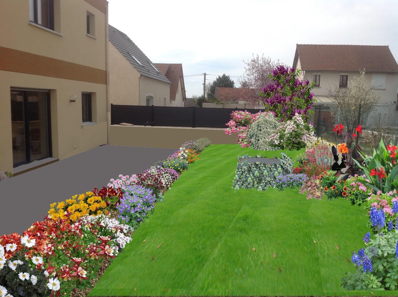 Jardin de banlieue plan for Organiser un jardin fleuri