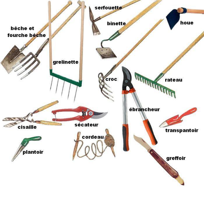 outils de jardin pour jardinage bio