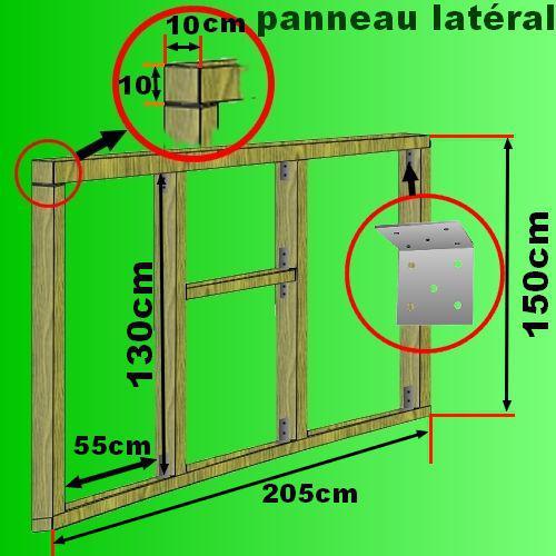 plan cabane bois de jardin+ abri jardin bois+cabanes à outils+ ...