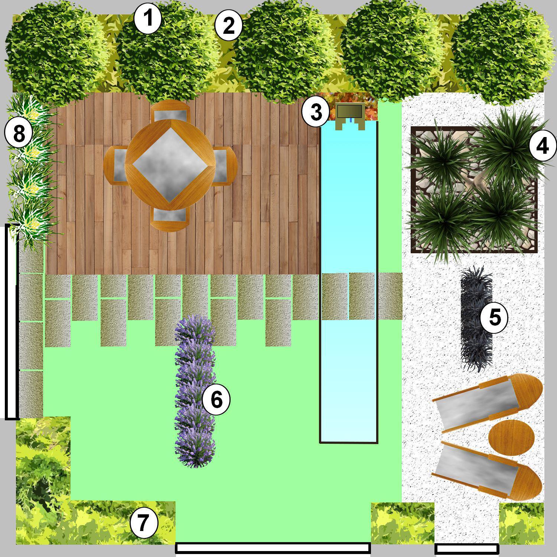 cr er un jardin minimaliste un style de jardin pur. Black Bedroom Furniture Sets. Home Design Ideas