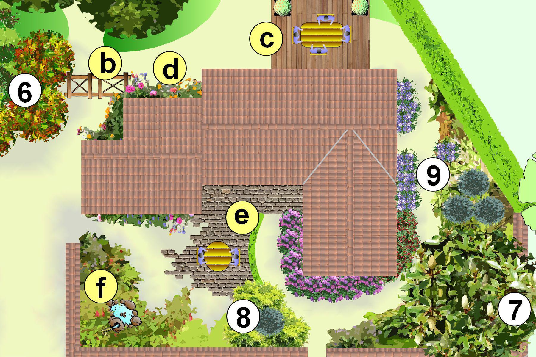 Cr er un jardin avec des grands arbres plan d 39 am nagement for Exemple de jardin anglais