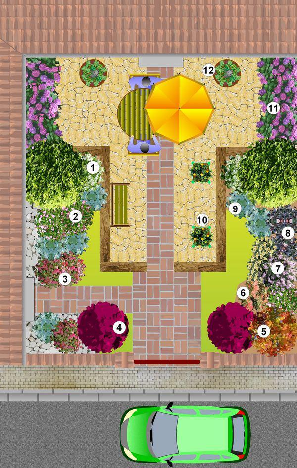 Massif d arbustes pour un petit jardin for Arbuste pour jardin