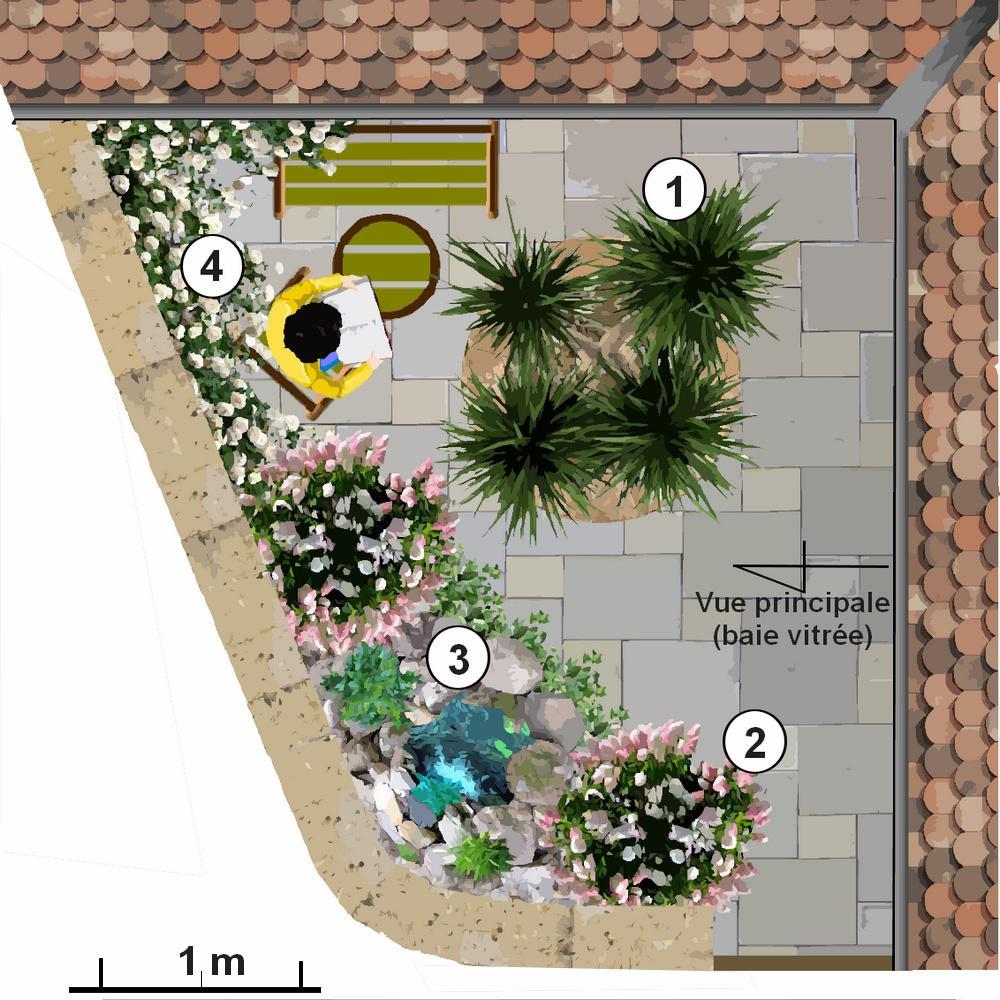 petits jardins triangulaires plans. Black Bedroom Furniture Sets. Home Design Ideas