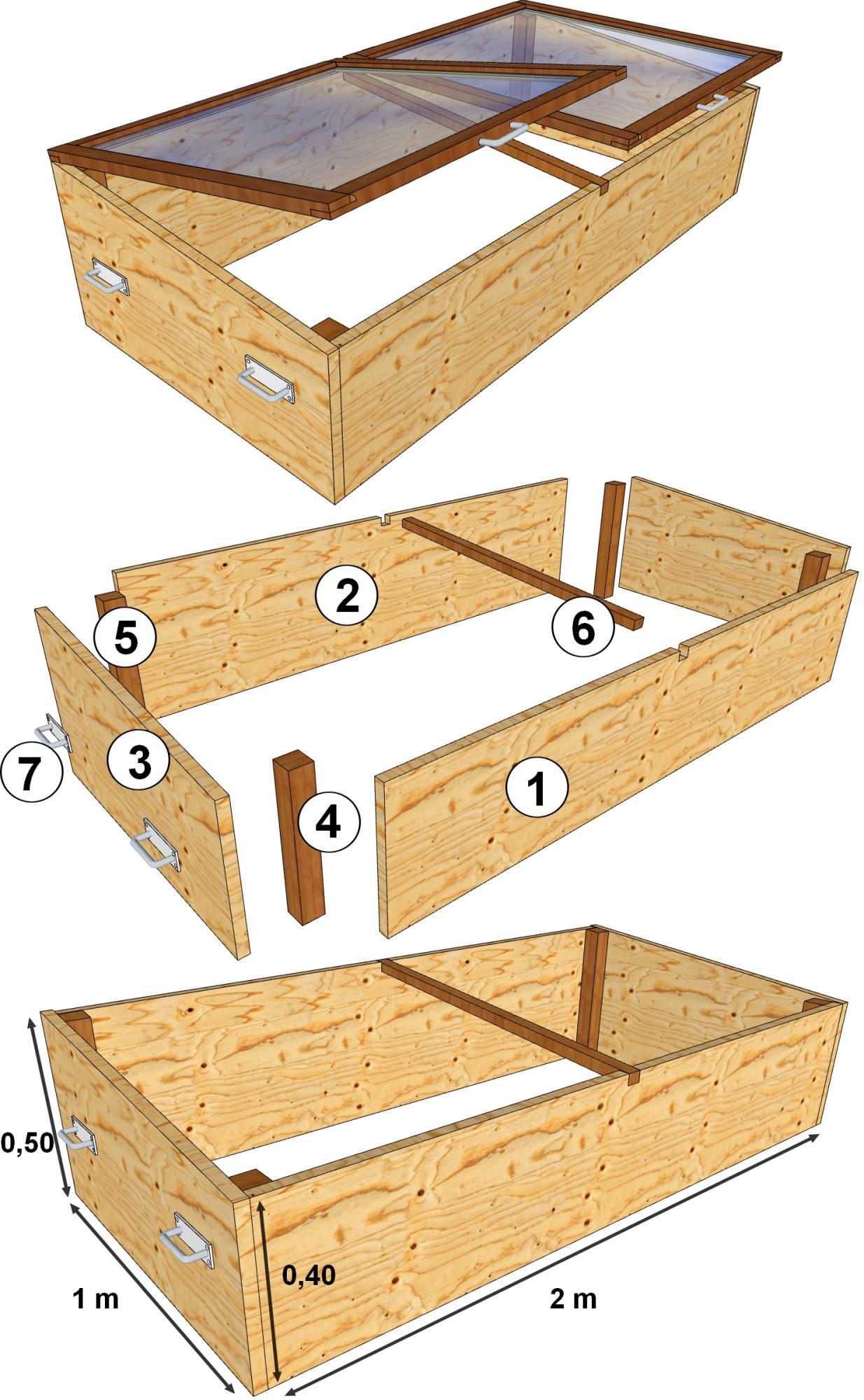 Comment fabriquer un coffre en bois - Comment fabriquer un chassis de jardin ...