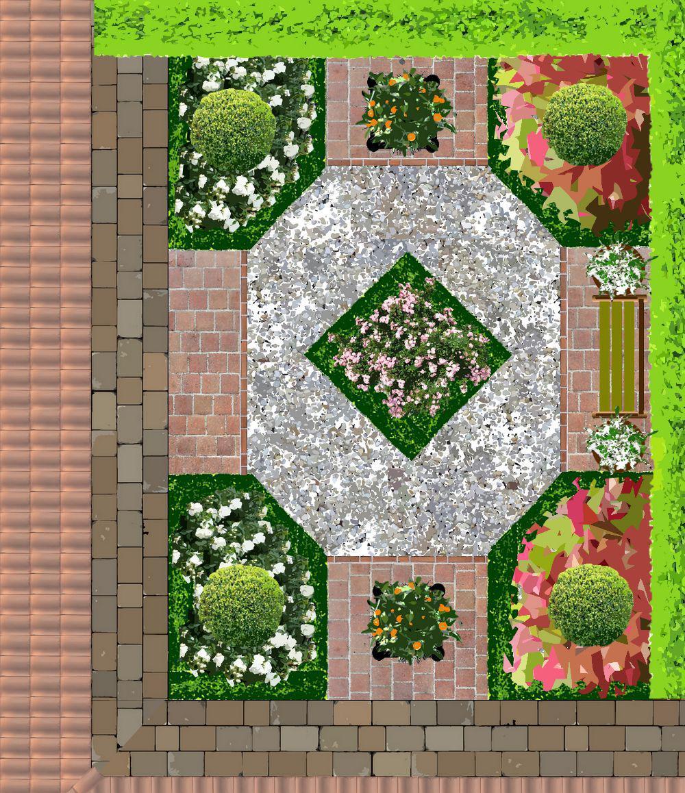 Jardins pour patios plans - Amenagement petit jardin 40m2 ...