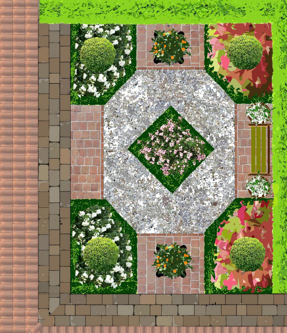 Jardins pour patios plans - Plan petit jardin rectangulaire tourcoing ...