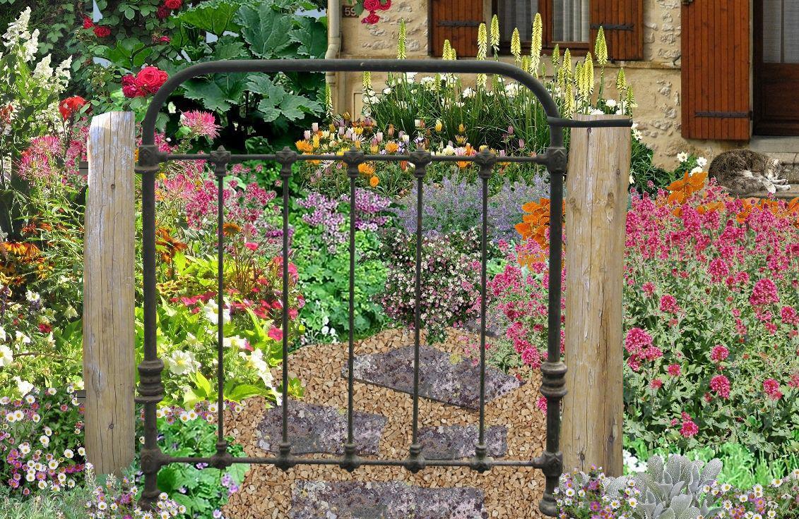 Des idées de décoration du jardin bio avec de la récup\'