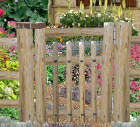 Des id es de d coration du jardin bio avec de la r cup 39 for Petit portillon en bois