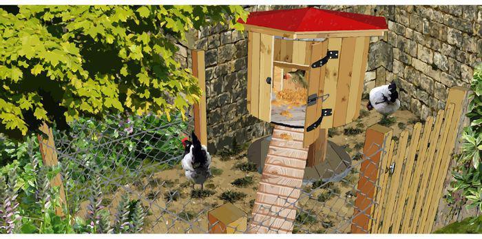 installer un poulailler au jardin. Black Bedroom Furniture Sets. Home Design Ideas