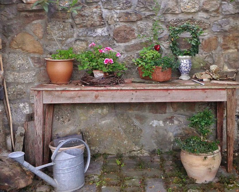 Le jardin vintage exemple avec un plan for Jardines vintage