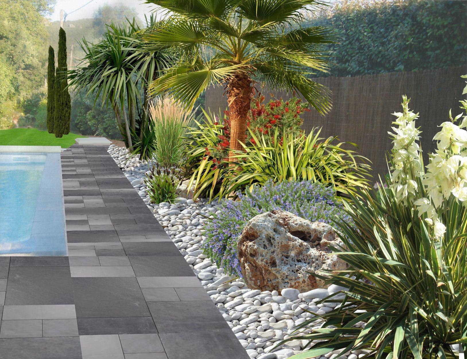 Faire un jardin autour d une piscine planter les abords d for Quelle plante autour d une piscine